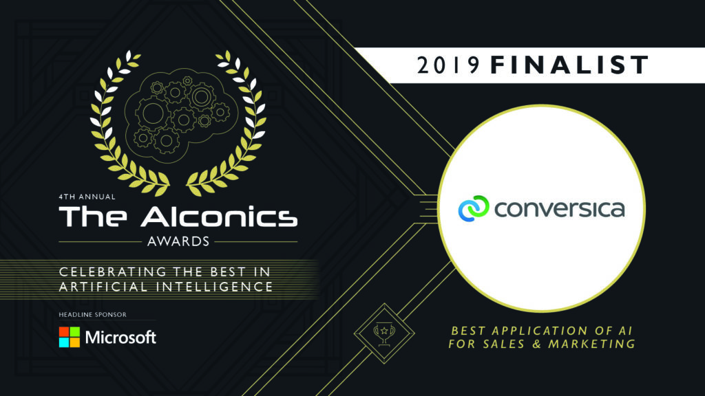 Conversica selected as Finalist again for AIconics Awards 2019